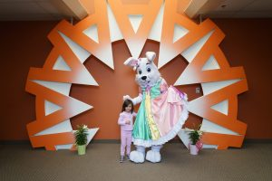 Dallas Easter Bunny for Hire, Best Open Faced Easter Bunny