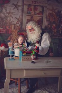 Dallas Santa Claus in Workshop