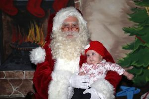Santa with Baby Picture