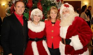 Southlake Mayor with Santa Claus and Mrs. Claus