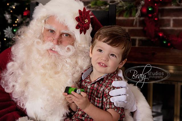 Real Santa for Pictures with Santa Claus