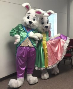 Mr and Mrs Easter Bunny