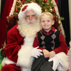 Fort Worth Country Club Pictures with Santa Claus