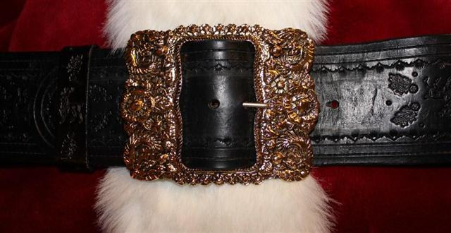 Real Santa Claus - Custom Belt and Buckle