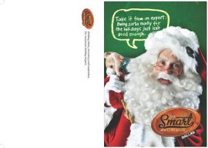 Santa Claus model for print advertisement and TV commercials